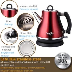 Image 3 - Chaleira elétrica de aço inoxidável 304, 1,2l, colorida, 1500w, para cozinha doméstica, de aquecimento rápido, elétrica, sonifer