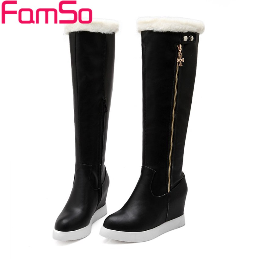 Free shipping 2016 NEW Arrival font b Women b font Boots Black white Platforms Shoes Waterproof