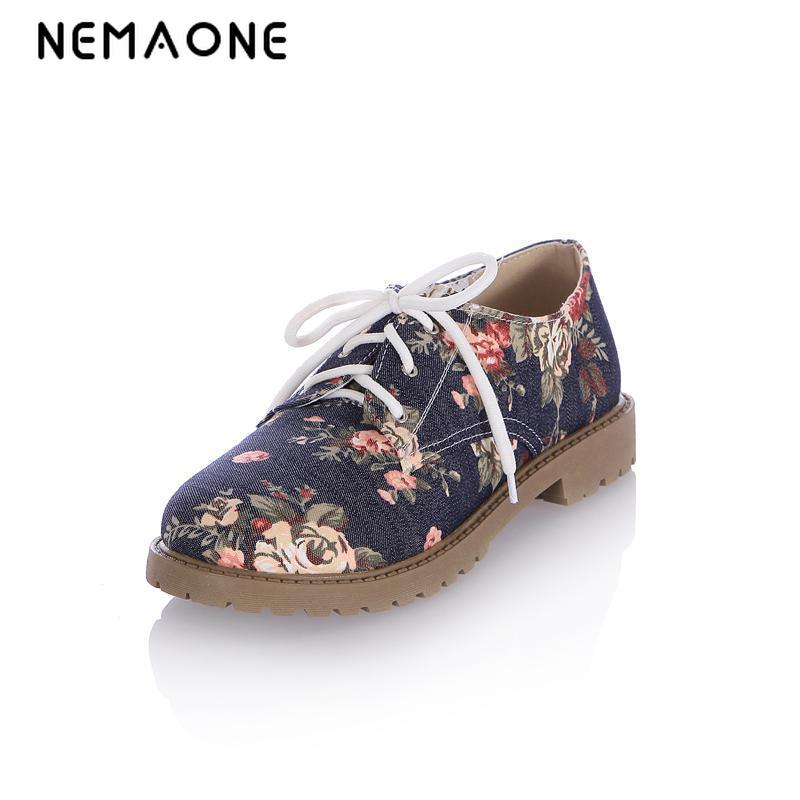 Flower print women flat shoes 2016 platform summer loafers comfortable ladies slip on flats casual canvas shoes womanizer pro