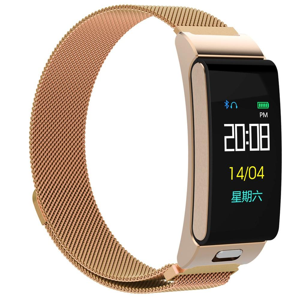 A9S color screen smart bracelet heart rate blood pressure sports bracelet watch Bluetooth headset call bracelet