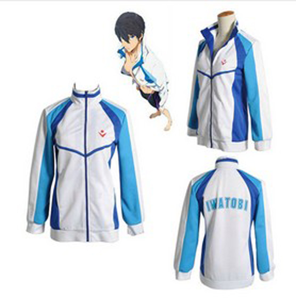 Anime Free! Iwatobi Swim Club Haruka Nanase Cosplay Costume Jacket Unisex Hoodie High School Sprot Wear Coat Tops