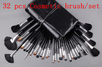 Big Discount 32 Pcs Makeup Brush Kit Makeup Brushes Black Leather Case Free Shipping Pc32 02