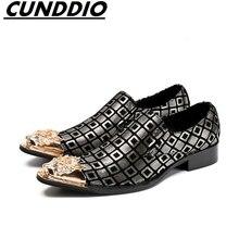 Cunddio итальянская мода мужская кожаная обувь элегантные качество кожи мужская обувь на плоской подошве туфли-оксфорды для мужчин
