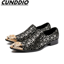 CUNDDIO Italian Fashion Leather Men Shoes Elegant Qualit Leather Mens Flats Shoes Oxford Shoes For Men