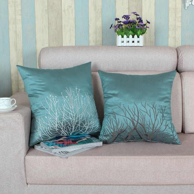 Aliexpresscom Buy Faux Silk Cushion Covers Pillows Shell Home - home decor bedding stores