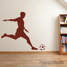 Football Wall Sticker Football Player Wall Decal DIY Boys Decor Removable Sport Wall Stickers Easy Wall Art S15 tanie tanio For Refrigerator For Smoke Exhaust For Cabinet Stove For Tile For Wall Toilet Stickers Furniture Stickers Switch Panel Stickers