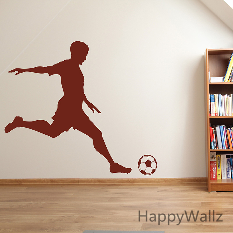 ᗑFootball Wall Sticker ︻ Football Football Player Wall ...