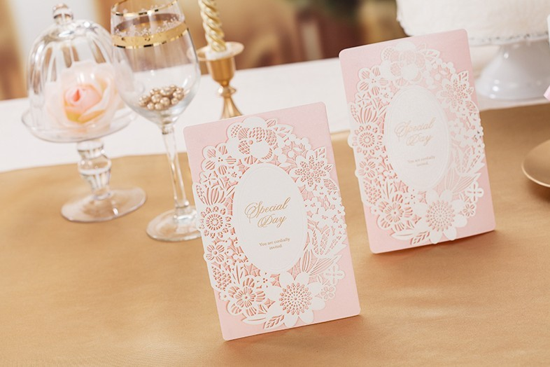 Aliexpresscom Buy 30pc Lovely Pink Wedding Invitations Cards