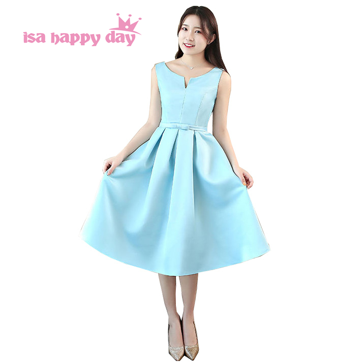 hot & sexy special occasion robe de soiree short light blue   prom     dresses   ball gown puffy gowns   dress   2019 new arrival H4232