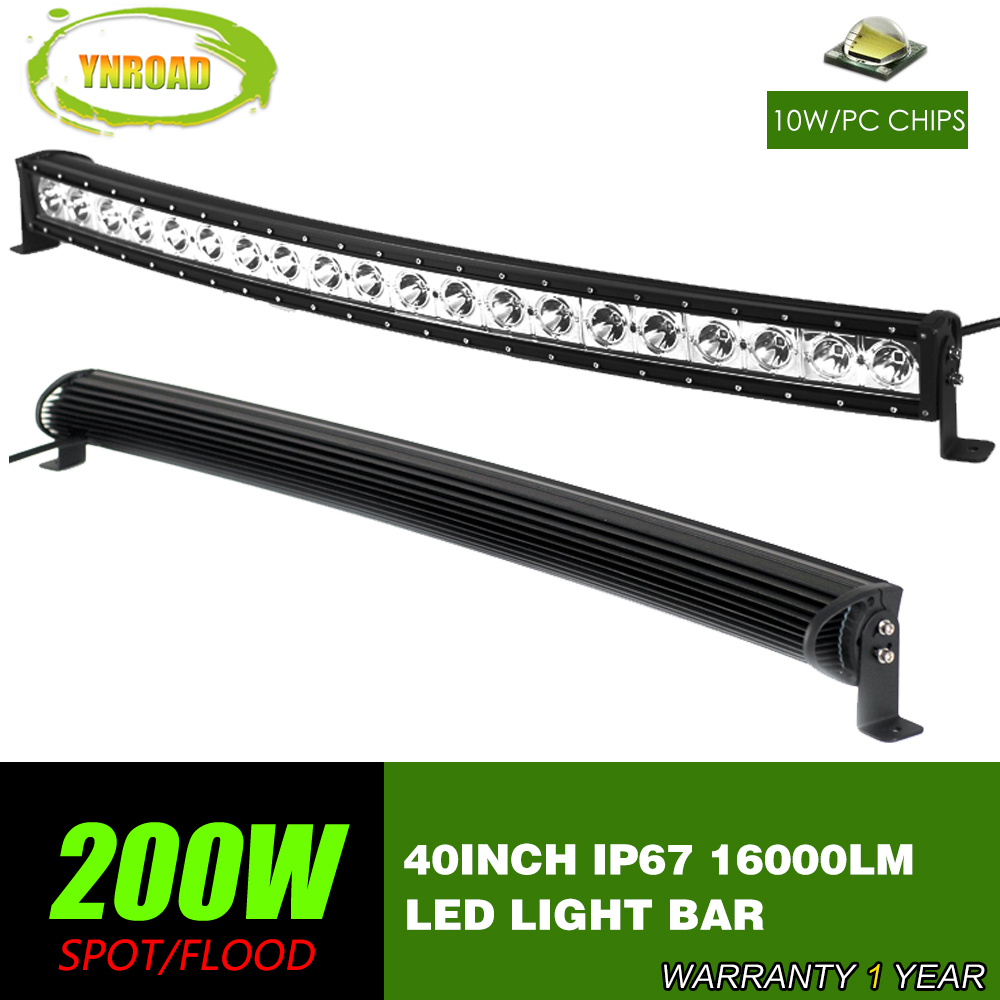 Ynroad 40inch 200w curved single row led work light bar spot flood ynroad 40inch 200w curved single row led work light bar spot flood combo beam 10v 30v suv atv 4x4 truck 4wd offroad light bar in light barwork light from mozeypictures Images