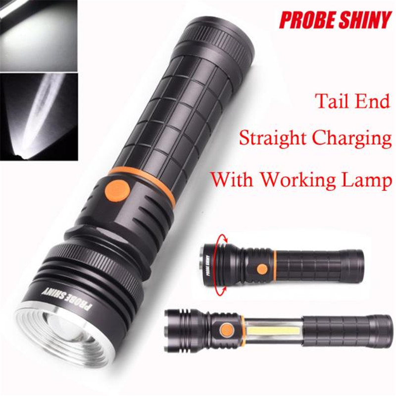 Cycling Bike Bicycle Front Head Torch Zoomable COB LED Magnetic END Black Light Inspection Flashlight Lamp Bike Accessories M10 jetbeam bc40gt flashlight searchlight 2750lm xhp50 led cycling bicycle bike front head light outdoor camping accessory m25