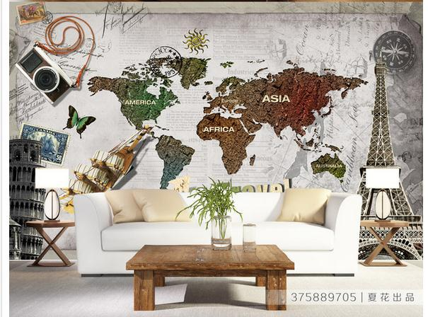 Non woven wallpaper ancient world map backdrop wallpaper papel de non woven wallpaper ancient world map backdrop wallpaper papel de parede wall sticker wallpapers factory direct gumiabroncs Gallery