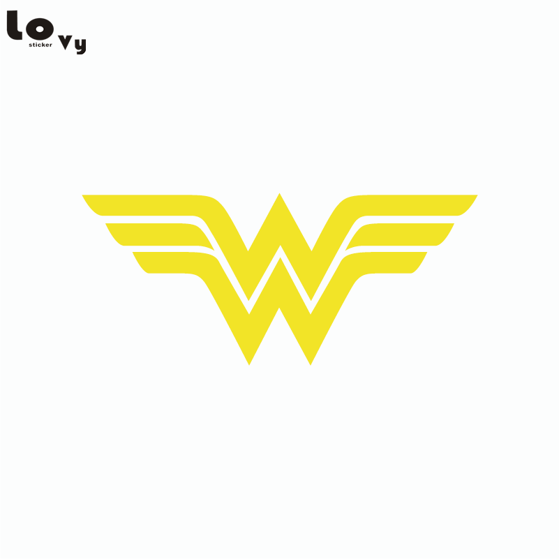Wonder Woman Logo Wall Sticker Superhero Vinyl Wall Decal Home Decor
