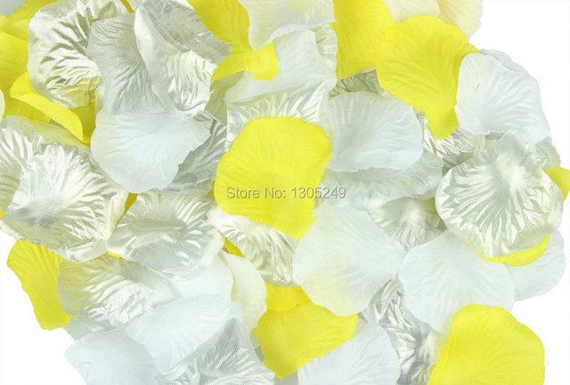 900pcs silver white yellow silk rose petals wedding centerpieces 900pcs silver white yellow silk rose petals wedding centerpieces party decoration confetti bridal shower junglespirit Image collections