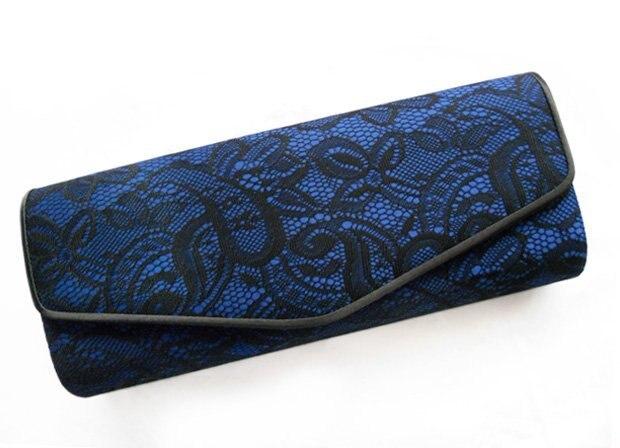 Quality Satin Fashion Evening Party Vintage Lace Clutch Bag Design 2 Colors Option