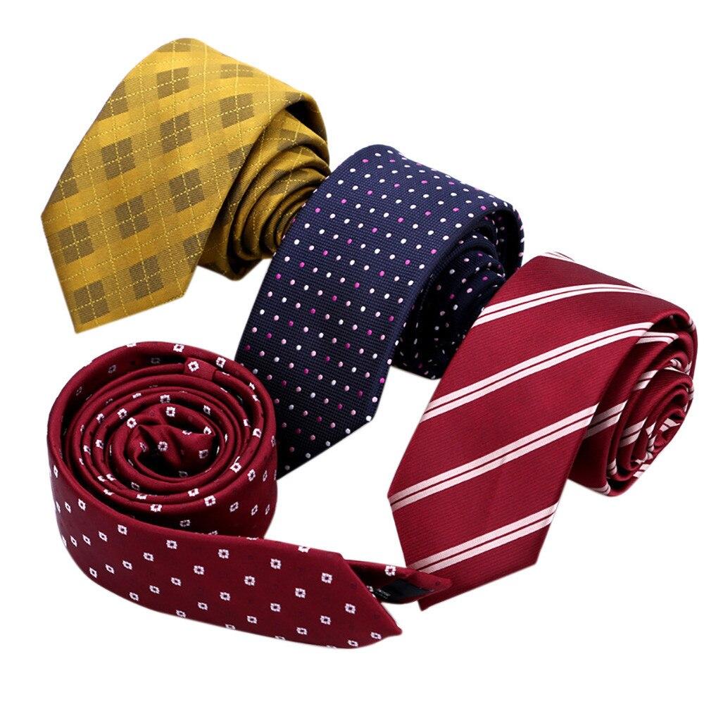 Soft Casual Slim Plain Mens Solid Skinny Neck Party Wedding Comfortable Tie Necktie L50/0107