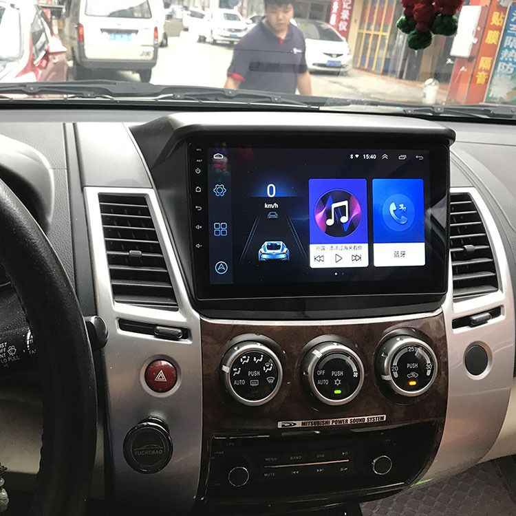 Super Slim Touch Screen Android 8.1 Radio Gps Navigatie Voor Mitsubishi Pajero Sport Tabletten Stereo Multimedia Bluetooth
