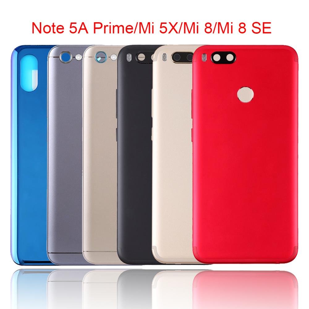 US $5 96 30% OFF Replacement Back Battery Cover For Xiaomi Redmi Note 5A  Prime/Mi 5X/A1/8 SE Battery Door Rear Housing Back Case Protective Shel-in