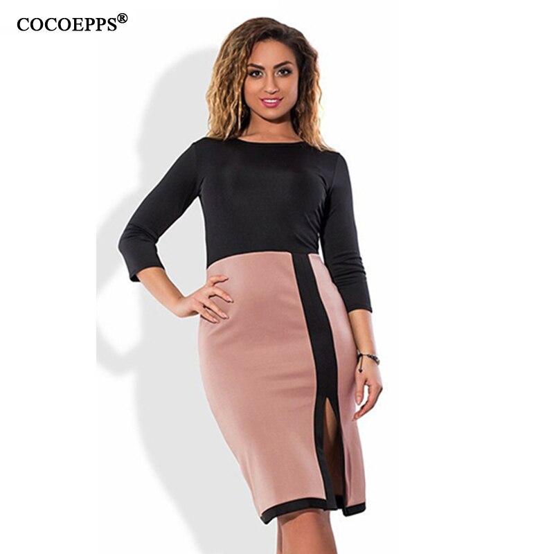 2017 Summer Women 4XL Dress Plus Size O Neck Sexy Elegant ...