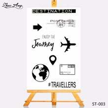 ZhuoAng Transparent Clear Stamp Plane And The Earth Seal for DIY Scrapbooking Photo Album Card Making DIY Decoration Supply(China)