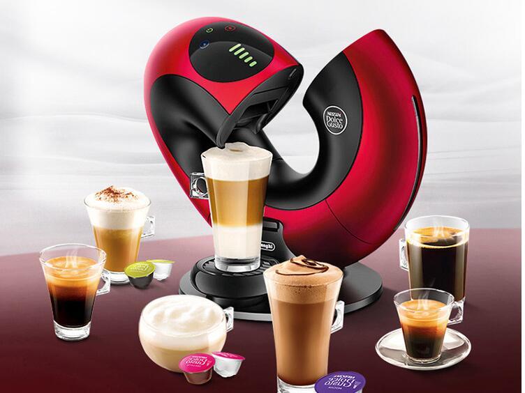 Nestle nescafe dolce gusto 6 copos cápsula máquina de café totalmente automático do agregado familiar toque inteligente leite espuma espresso fabricante eclipse