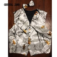 Camo Groom Vests Custom Made Adult Country Wedding Party Camo Prom Vest
