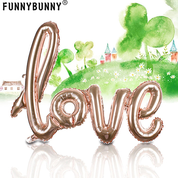 1pcs, Champagne Love Balloon  - 41.7Inches Long