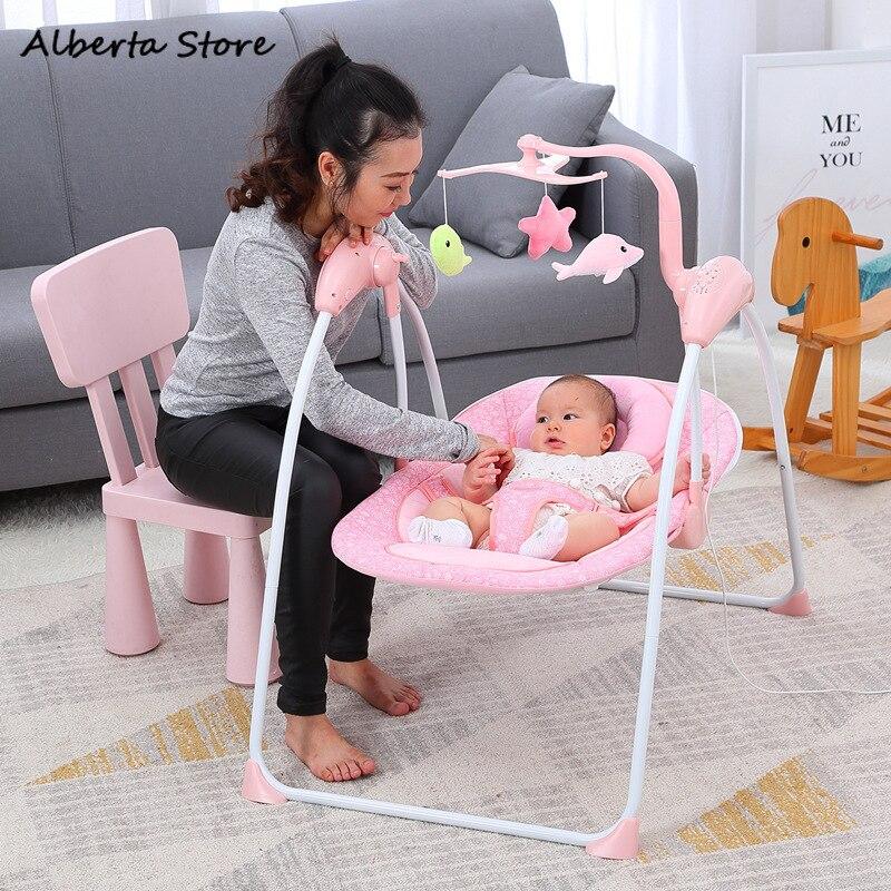 Nouveau bébé chaise berçante bébé électrique Vibration inclinable multifonctionnel confort chaise allongeant et élargissant berceau électrique