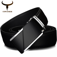 High Quality Male New Brand Cowather Real Leather Eagle Belts For Men Automatic Buckle Cowhide Leather