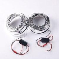 Hot Sale LED Daytime Running Light Angel Eye with Shrouds Masks Cover DRL For 3 Inche Q5 Lens Hella5 Bi Projector Lens