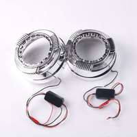 Hot Sale LED Daytime Running Light Angel Eye with Shrouds Masks Cover DRL For 3 Inche Q5 Lens Hella5 Bi Projector Lens