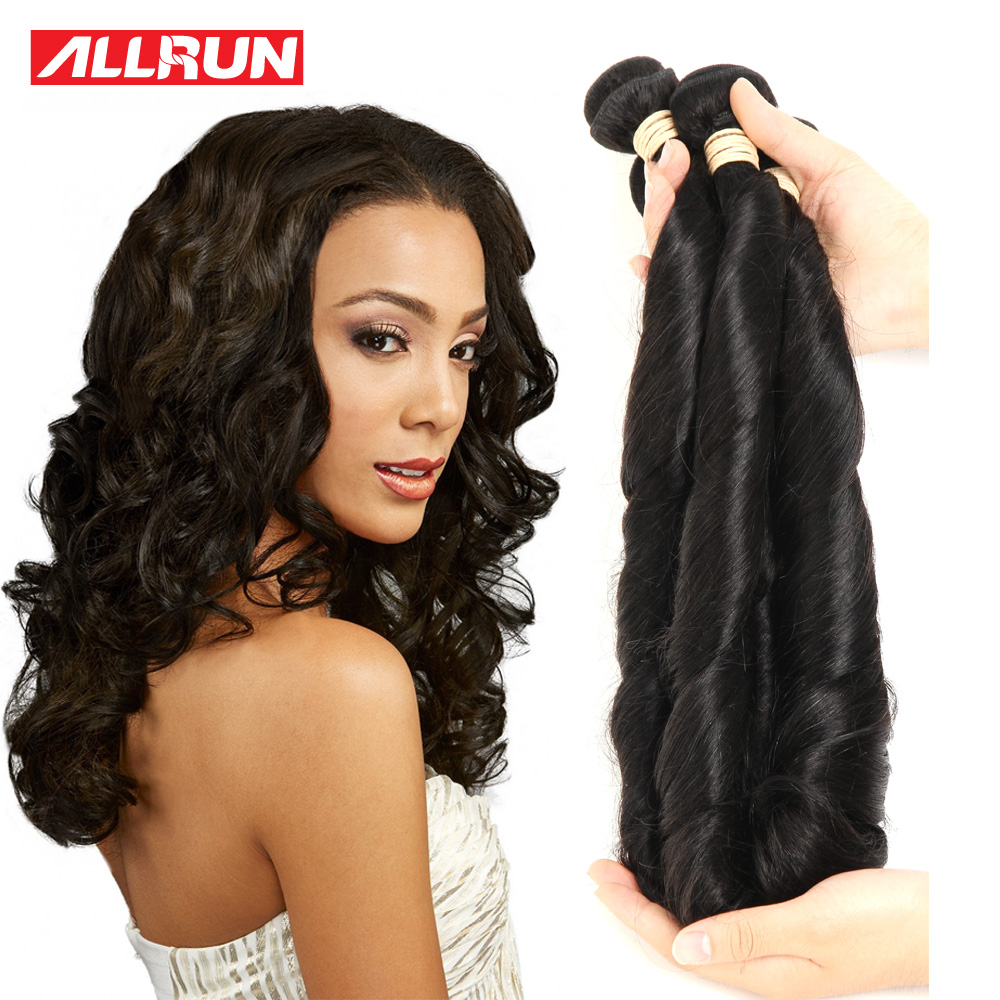 8A Peruvian Spring Curl Virgin Hair Natural Color Bundles Spiral Curly Soft Human Extension - ALLRUN A Official Store store