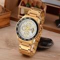 Multi-function chronograph men wristwatches quartz watch waterproof stainless steel man sports watch