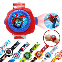 Kids Watch Montre Enfant Cartoon 3D Projection Spiderman for Baby Girl