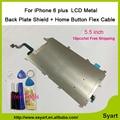 "10 unids/lote 6 plus Escudo de Metal Placa de hierro + Placa Trasera Flex Cable Parte/botón de inicio cable flex caliente ventaen iphone 6 plus 5.5"""