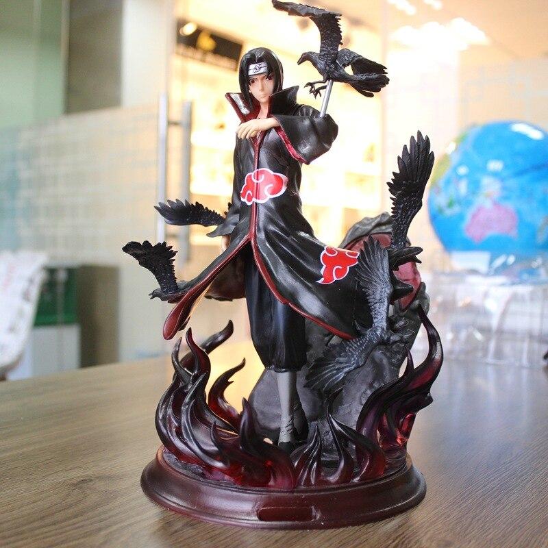 Anime NARUTO GK Akatsuki Uchiha Itachi statue PVC Figure 25cmAnime NARUTO GK Akatsuki Uchiha Itachi statue PVC Figure 25cm