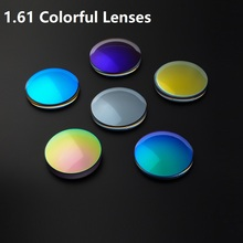 Customized 1.61 Colorful Unpolarized Stained Myopia Glasses Sunglasses Prescription Spherical Lenes Lenses 75 diameter
