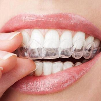 1 Pair Thermoform Moldable Mouth Teeth Dental Trays Tooth Whitening Guard Whitener Clear Orthodontic Braces  Детская кроватка