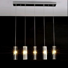 Hanging-Lamp Crystal Staircase Modern Led Restaurant Bar