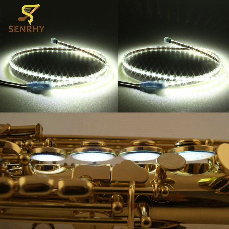 1 шт. 100 см <font><b>LED</b></font> утечки свет sax ремонт инструмент для Саксофоны Кларнет Флейта Гобои Деревянные духовые инструменты Запчасти и аксессуары