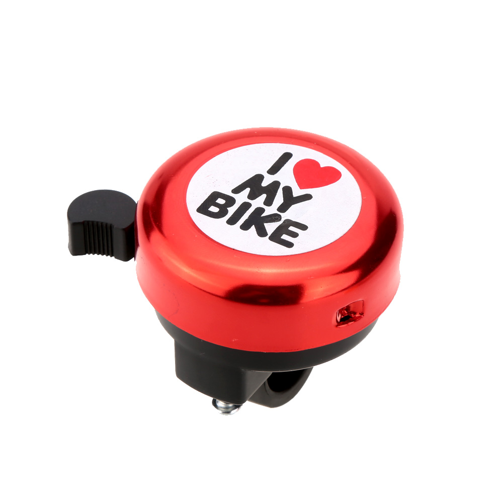 I Love My Bike Printed Clear Sound Cute Bike Alarm Warning Ring Bell Bicycle Accessory