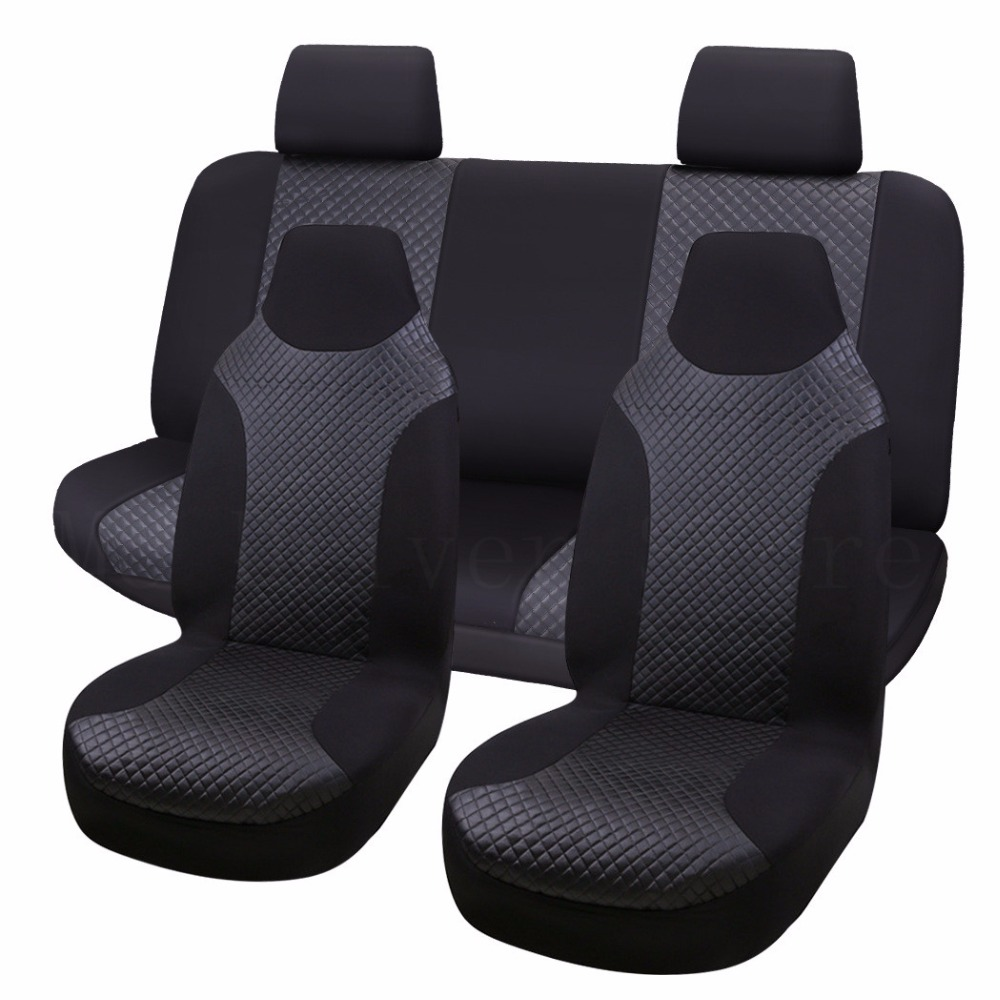 Front seat covers fit Skoda Superb black//grey  Leatherette