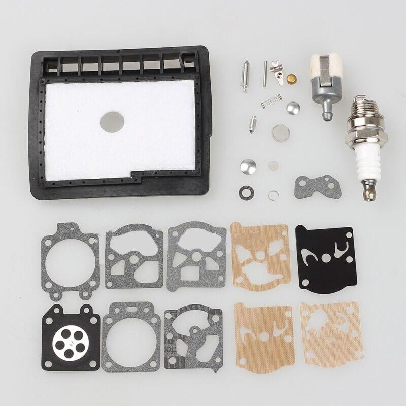 Replacement Carburetor Kit Part Spare Repair Air Filter Primer Bulb Spark Plug For ECHO CS345 CS346 CS300 CS3000