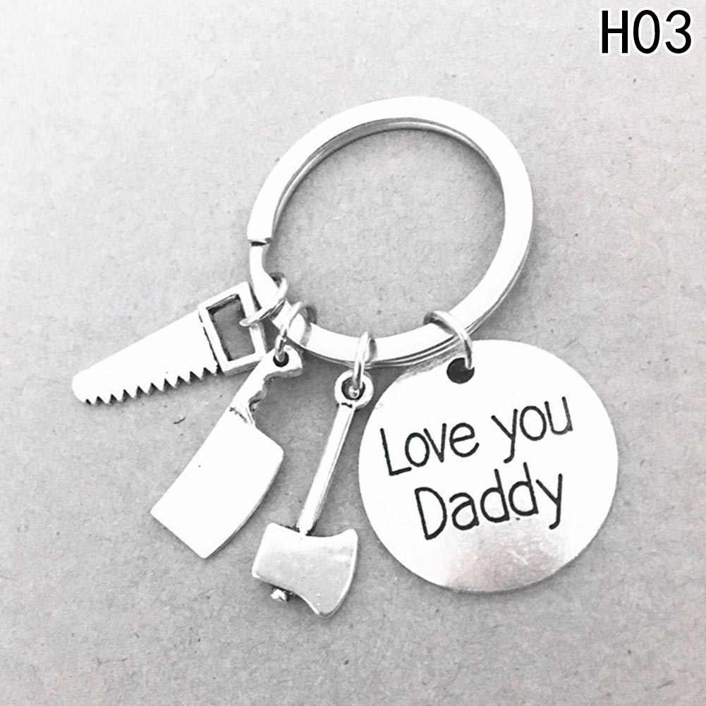 """1 PC """"Se O Pai não Pode Consertar Isso Ninguém Pode"""" Papai Keychain Ferramentas Manuais Chave Anéis Presente para O Pai do Dia Dos Pais, pai Chave de Cadeia de Acessórios"""