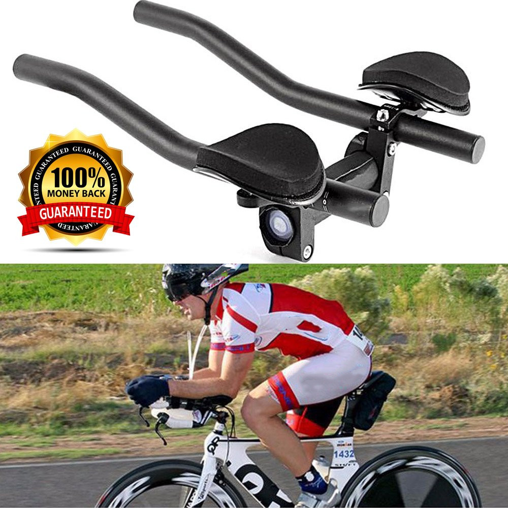 2pcs Aluminum Alloy Bicycle TT Handlebar Bike Rest Aero Bar Cycling Equipment