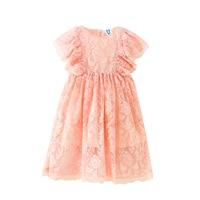 B S177 New Fashion Spring Girls Casual Dresses Summer Short Sleeve Princess Dress 5 14T Teenager