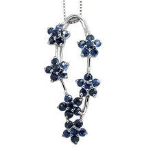Collares Collier Qi xuan_темно-синий камень цветок кулон ожерелье_ Настоящее ожерелье_ качество Directly ed_производитель напрямую