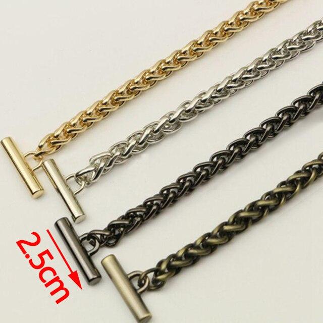 Diy 8mm Gold Silver Gun Black Plating Bronze Metal Replacement Chain Shoulder Straps