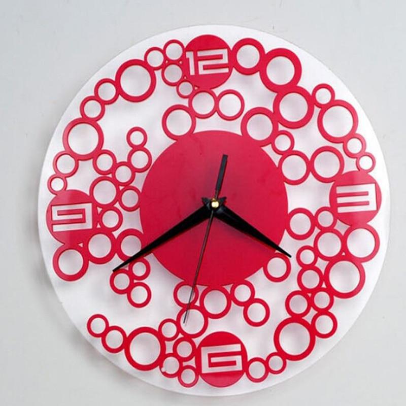 2017 Wall Clock Korean Design Clocks Reloj De Pared Horloge Acrylic ...