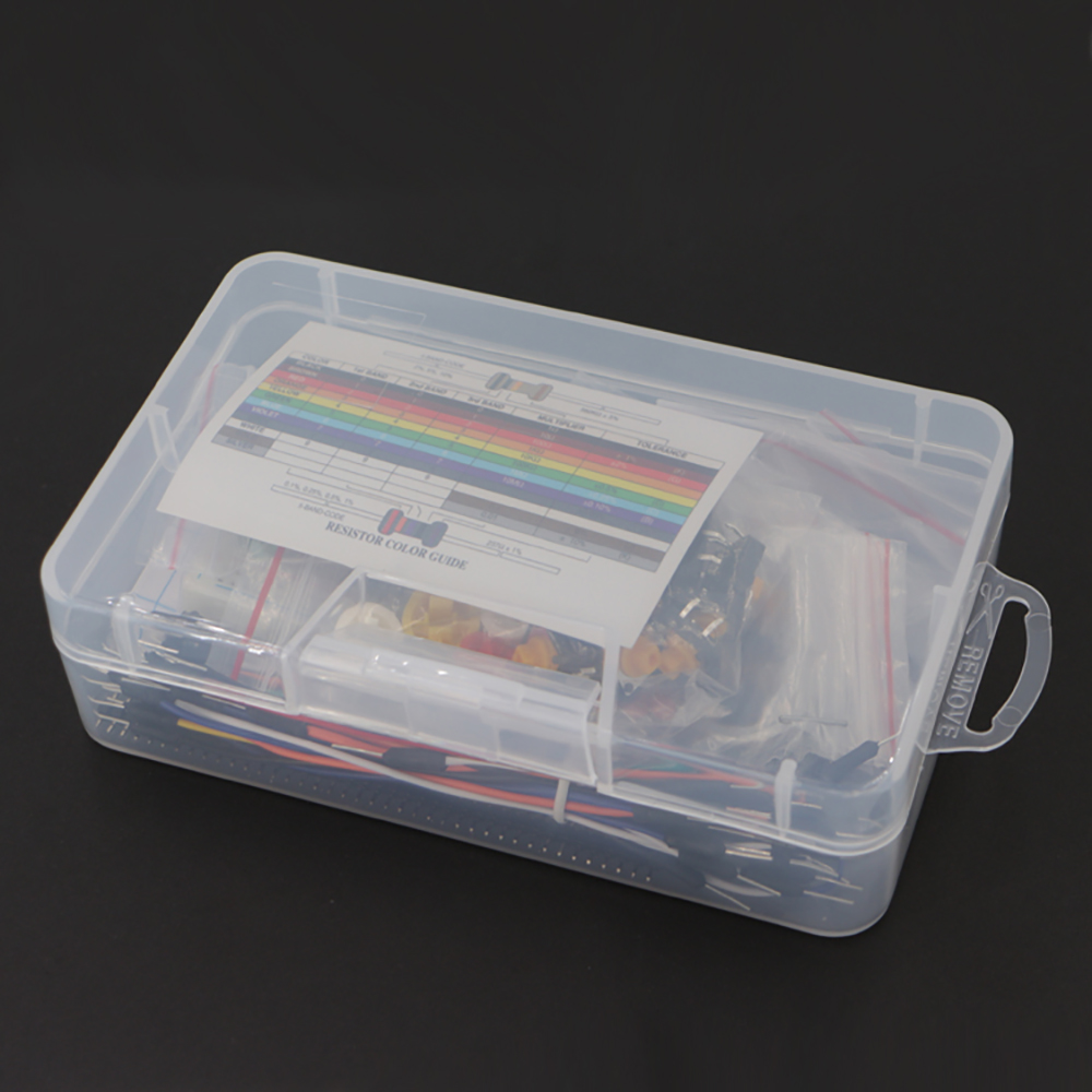 Купить с кэшбэком Starter Kit for Ar-du-ino Resistor /LED / Capacitor / Jumper Wires / Breadboard resistor Kit with Retail Box